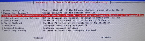 Première configuration du Raspberry Pi