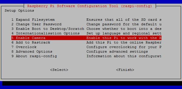 enable camera Raspberry Pi