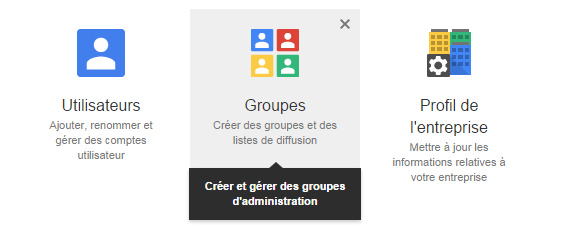 Gestion des groupes Google
