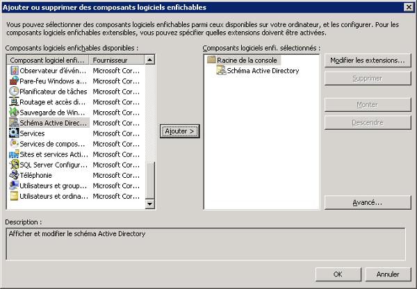 """Composant logiciel enfichable """"Contrôleur de schéma"""""""